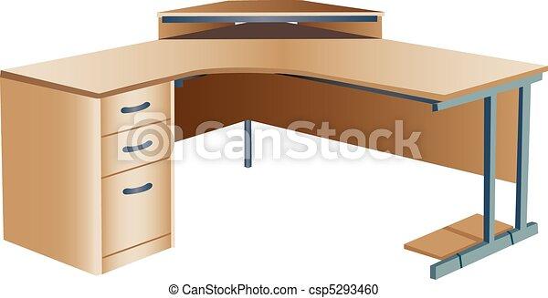 clipart vecteur de inclin coin bureau bureau trois dimensionnel csp5293460. Black Bedroom Furniture Sets. Home Design Ideas