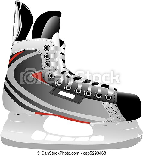 Illustrated ice hockey skate - csp5293468