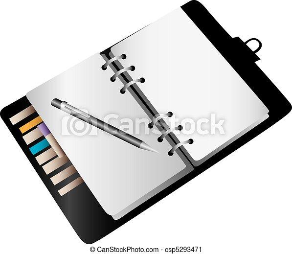 Blank notebook planner - csp5293471