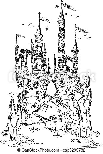 Gothic castle from fairytale III - csp5293782