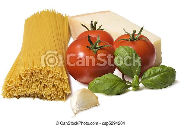 Italian Food Spaghetti Ingredients - csp5294204