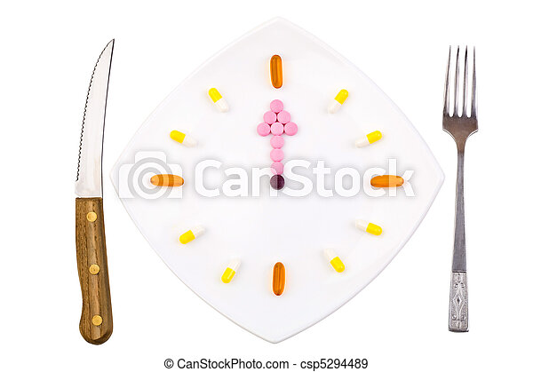 Pharmaceuticals on plate - csp5294489