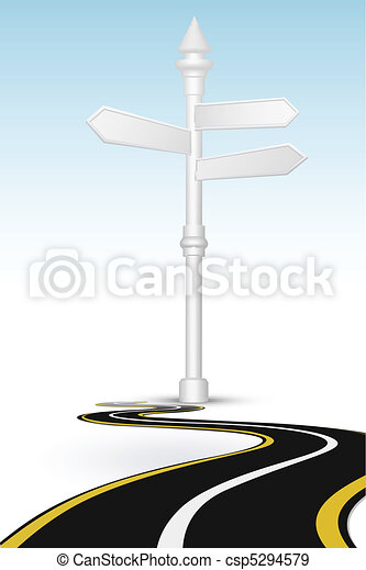 way with direction board - csp5294579