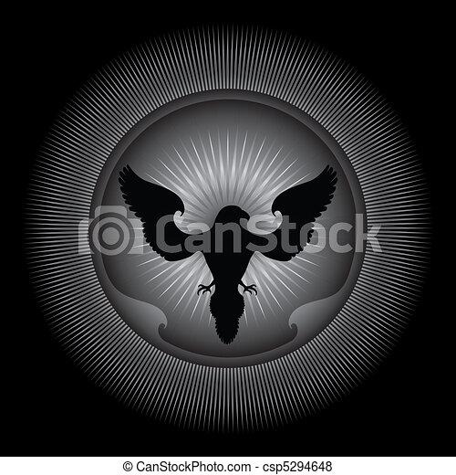 Eagle - Ornamental Illustration. - csp5294648