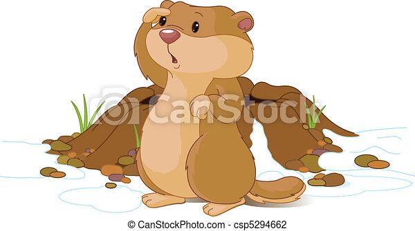 Woodchuck cartoon Stock Illustrations. 259 Woodchuck cartoon clip ...