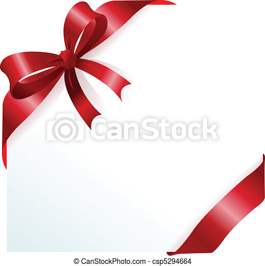Red ribbon and bow - csp5294664