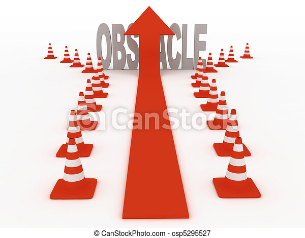 Overcoming obstacles - csp5295527