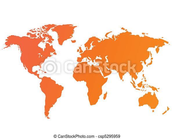 World map vector - csp5295959