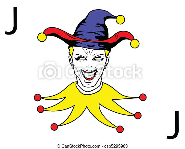 joker playing card - csp5295963