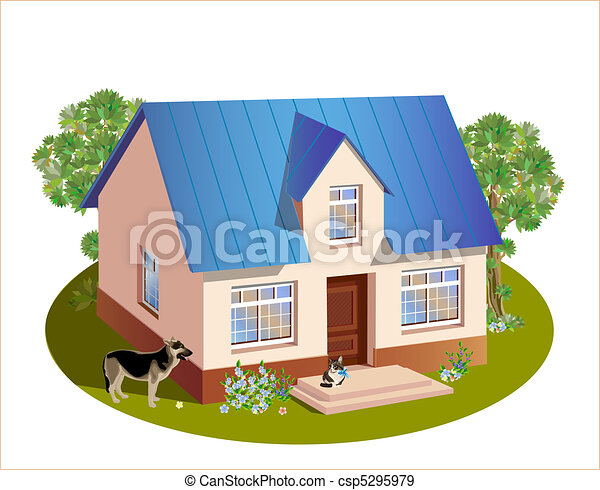 model of three dimensions family  house - csp5295979
