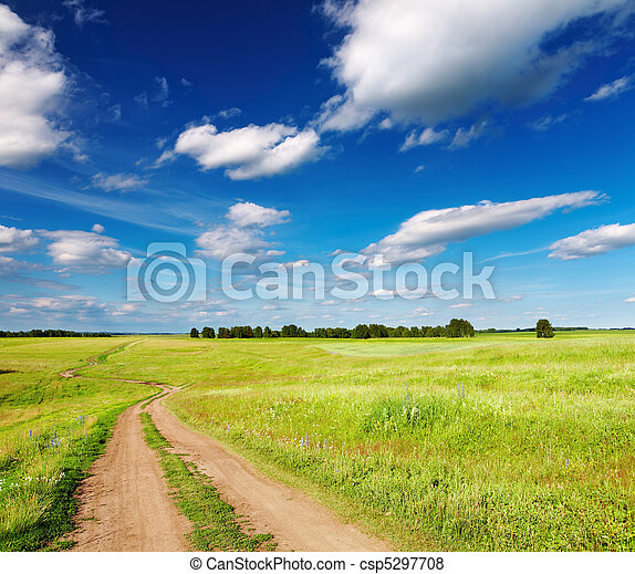 Landscape with country road - csp5297708