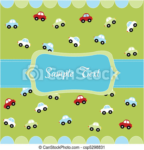 seamless pattern with little cars - csp5298831