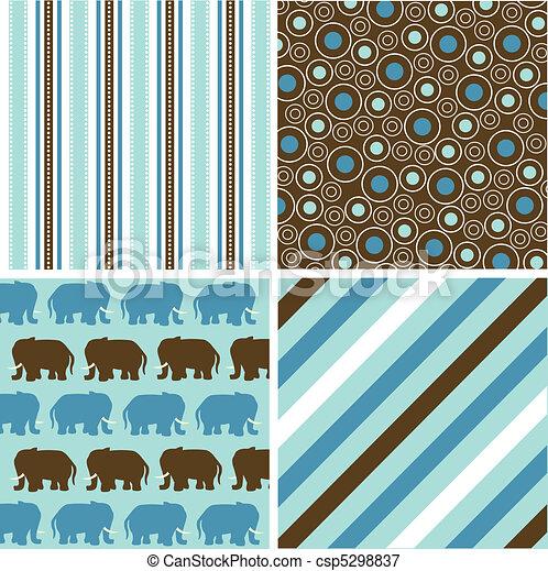 seamless patterns, fabric texture - csp5298837