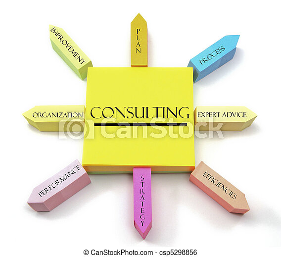 Consulting Concept on Arranged Sticky Notes - csp5298856