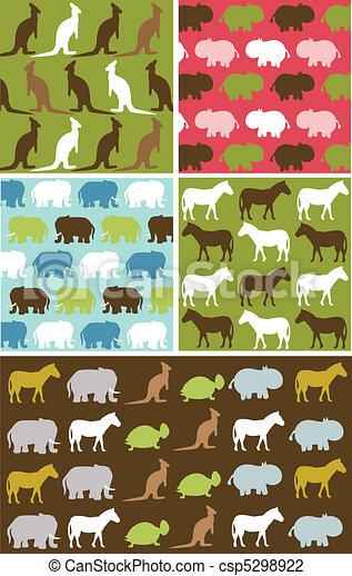 Seamless natural animal pattern - csp5298922