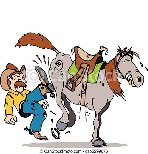 kick start horse - csp5299076
