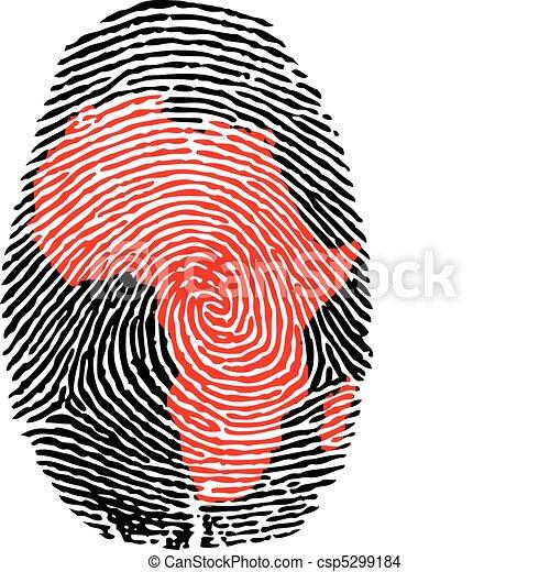 Africa-fingerprint  - csp5299184
