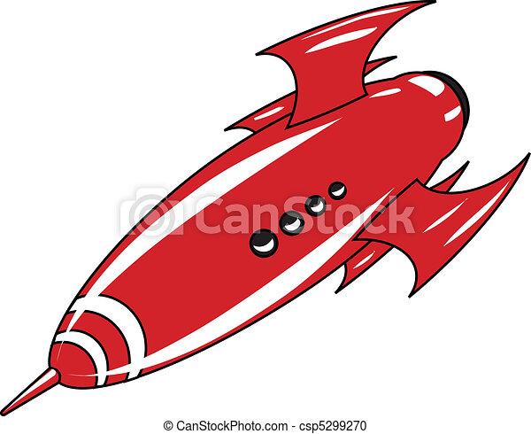 retro rocket - csp5299270