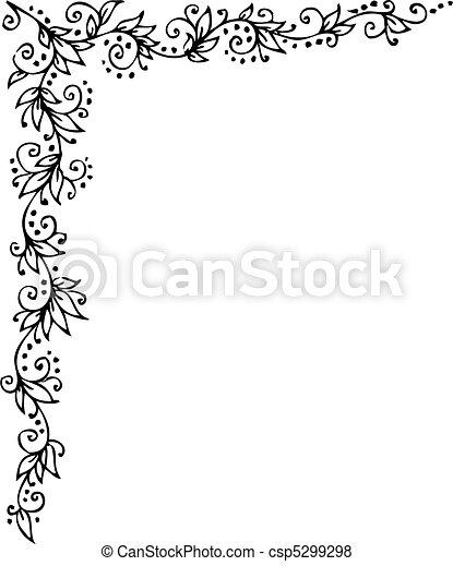 Floral vignette - csp5299298