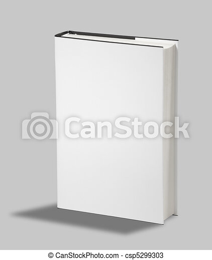 Blank book cover w clipping path - csp5299303