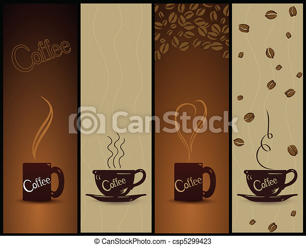 Set of coffee banners. Vector - csp5299423
