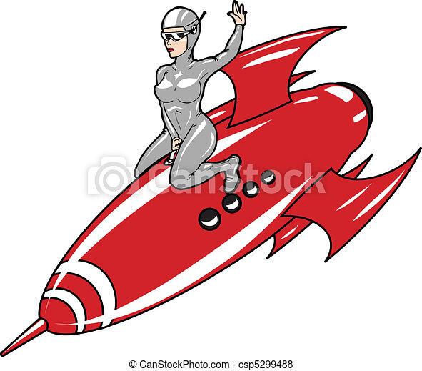rocket girl - csp5299488