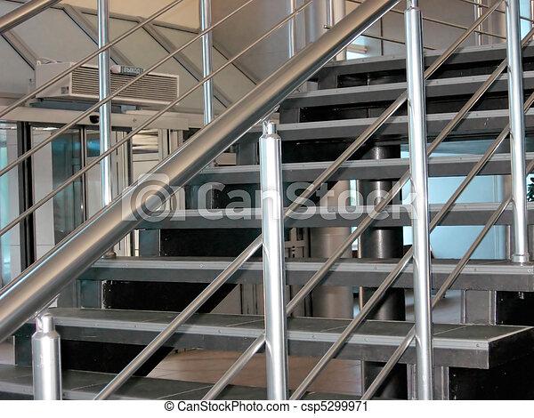 Modern metallic stairs - csp5299971