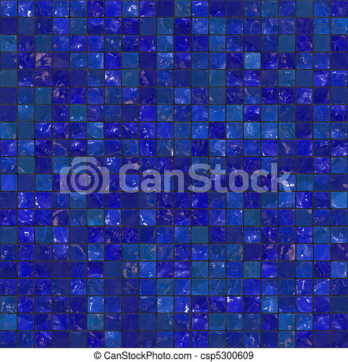 Blue Seamless Bathroom Tiles - csp5300609