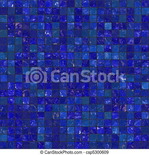 Blue Seamless Bathroom Tiles - csp5300609