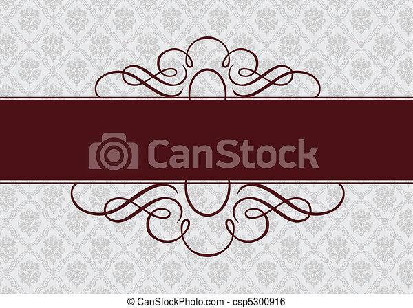 Vector Burgundy Ribbon Frame - csp5300916