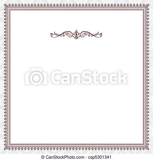 Vector Red Victorian Frame - csp5301341