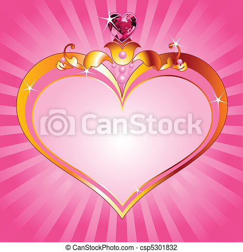 Love Princess pink frame - csp5301832