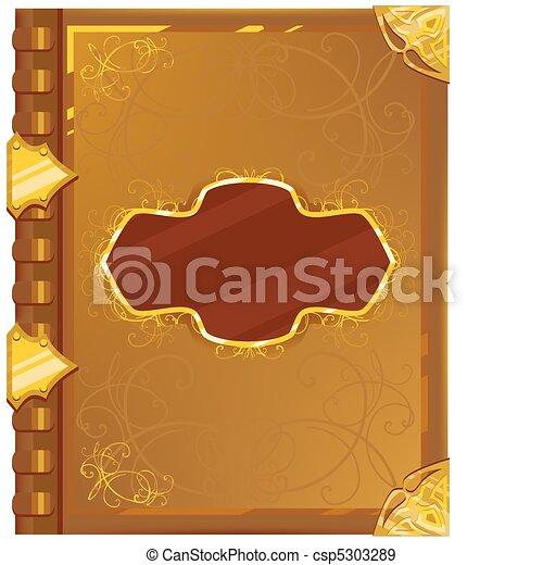 old magic book - csp5303289