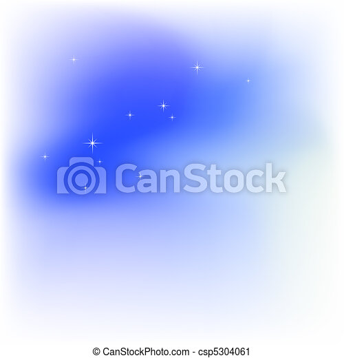 Sky, clouds, stars. Abstract light blue vector background - csp5304061