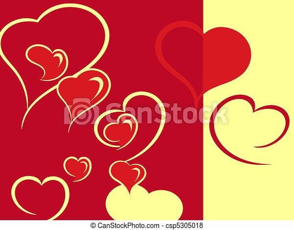 hearts are in warm tones - csp5305018