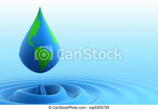 Earth water drop - csp5305729
