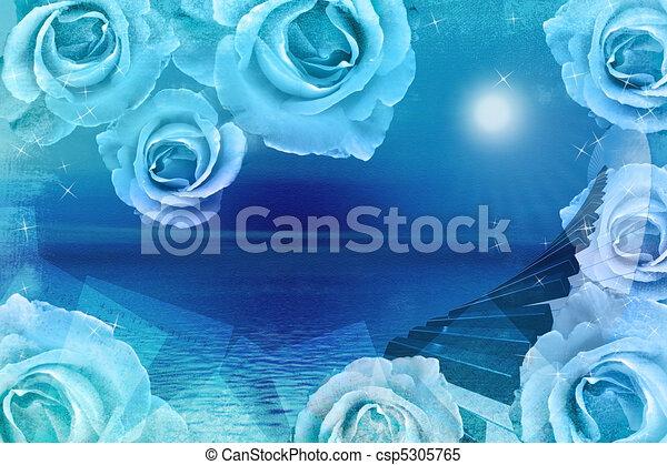 Romantic Musical  Background  - csp5305765