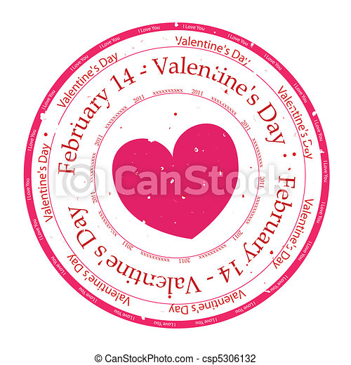 I Love You Rubber Stamp - csp5306132