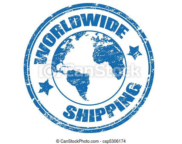 Worldwide Shipping stamp - csp5306174