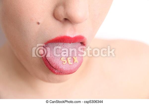 Sexy tongue - csp5306344