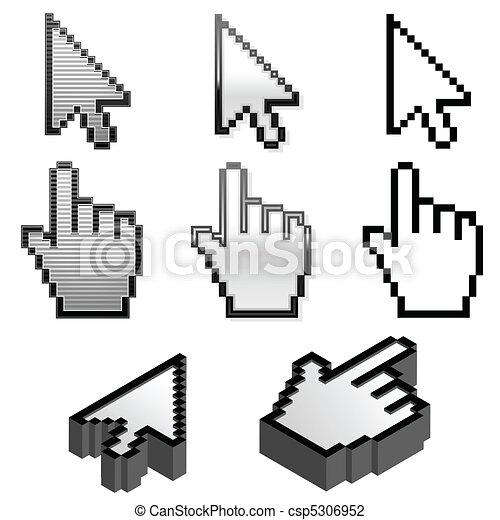 Set of cursor pointers - csp5306952