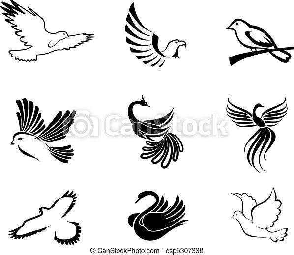 Vector of Bird symbols...