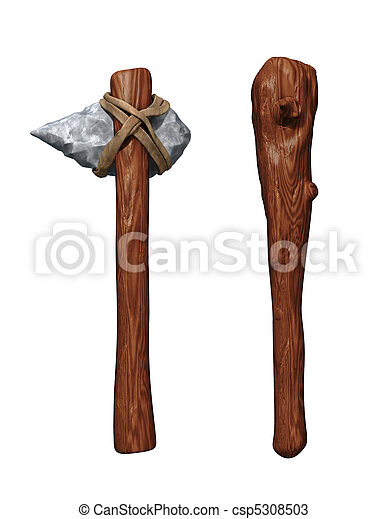 Prehistoric weapons - csp5308503