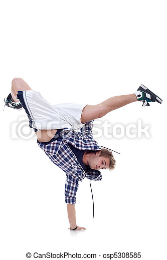 breakdancer standing in cool freeze pose - csp5308585