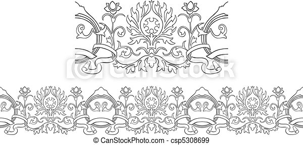 Victorian style repeating border - csp5308699