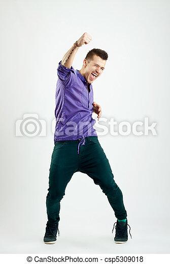 successful young fashion man - csp5309018