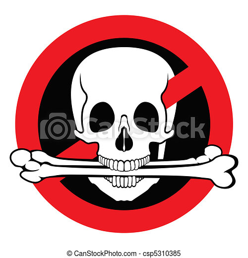 Illegal pirated content free sign - csp5310385