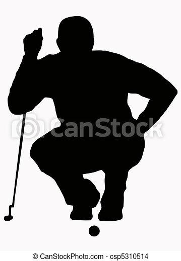 Sport Silhouette - Golfer Sizing put up - csp5310514