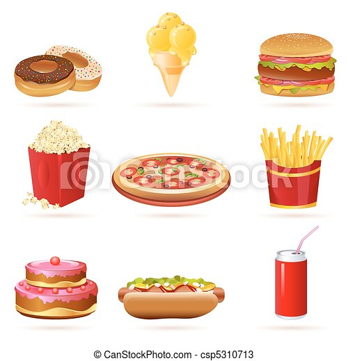 junk food icons - csp5310713