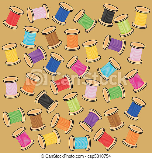 background with reels of thread - csp5310754